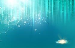 Abstract blauw wetenschapsontwerp Stock Afbeeldingen
