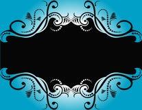 Abstract Blauw Zwart Ontwerp stock illustratie