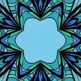 Abstract blauwgroen kader Royalty-vrije Stock Foto's