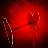 Abstract Bleeding Heart With Arrow Stock Image