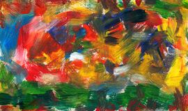 Abstract blend of strokes with a brush. Abstract blend and tangle of strokes with a brush Royalty Free Stock Photos