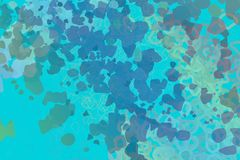 Abstract, decorative, illustrations, pattern for design texture & background. Abstract blended messy shapes for wall art, web page, wallpaper, graphic design stock illustration