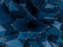 Abstract blie Geometrical Background .Futuristic technology styl Stock Image