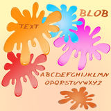 Abstract blobs with alphabet Stock Photography
