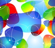 Abstract blobs water background, Vector Royalty Free Stock Photo