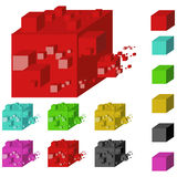 Abstract block Stock Photos