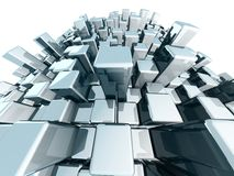 Abstract block urban city view  concept Royalty Free Stock Photo