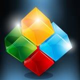 Abstract blocks Stock Image