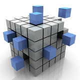 Abstract blocks. 3d Illustration of design created by cubes Stock Images