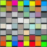 Abstract Blocks Background. Seamless blocks structure background made of 3d looking blocks Stock Images