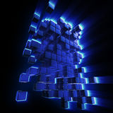 Abstract blocks background Stock Photos