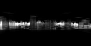 Abstract blocks city. Black and white abstract blocks city Royalty Free Stock Images