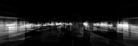 Abstract blocks city. Black and white abstract blocks city stock illustration