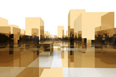 Abstract blocks city Stock Photo