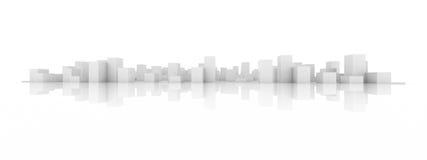 Abstract blocks city. 3d model of an abstract blocks city royalty free illustration