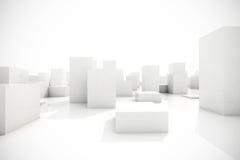 Abstract blocks city Royalty Free Stock Photo