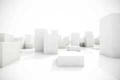 Abstract blocks city. 3d model of an abstract blocks city stock illustration
