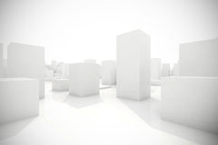 Abstract blocks city. 3d model of an abstract blocks city Stock Photography
