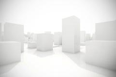 Abstract blocks city. 3d model of an abstract blocks city vector illustration