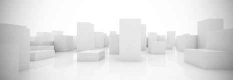 Abstract blocks city Royalty Free Stock Photo