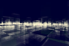 Abstract blocks city Stock Images
