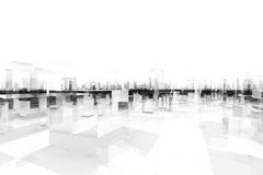 Abstract blocks city. 3d model of an abstract blocks city Stock Images