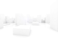 Abstract blocks city Royalty Free Stock Image