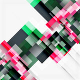Abstract blocks template design background, simple geometric shapes on white, straight lines and rectangles Royalty Free Stock Photo