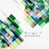 Abstract blocks template design background, simple geometric shapes on white, straight lines and rectangles Stock Photos