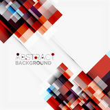 Abstract blocks template design background, simple geometric shapes on white, straight lines and rectangles Stock Photography