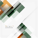 Abstract blocks template design background, simple geometric shapes on white, straight lines and rectangles Stock Images