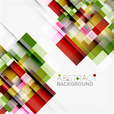 Abstract blocks template design background, simple geometric shapes on white, straight lines and rectangles. Abstract vector blocks template design background Royalty Free Stock Photo