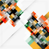 Abstract blocks template design background, simple geometric shapes on white, straight lines and rectangles Stock Image