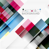 Abstract blocks template design background, simple geometric shapes on white, straight lines and rectangles Royalty Free Stock Image