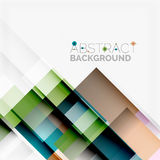 Abstract blocks template design background, simple geometric shapes on white, straight lines and rectangles Stock Photo
