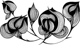Abstract bloemelement stock illustratie