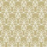 Abstract bloemen beige patroon Royalty-vrije Stock Fotografie