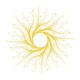 Abstract bloemen decoratief frame dat op wite, vector wordt geïsoleerd illust Royalty-vrije Stock Foto