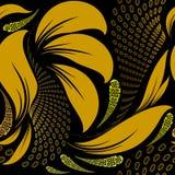 Abstract bloemen Grieks vector naadloos patroon Moderne geometrisch stock illustratie
