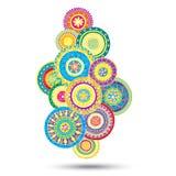 Abstract Bloemen het Ontwerpelement van Paisley Mehndi Royalty-vrije Stock Fotografie