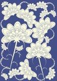 Abstract Bloemen Japans Art. Royalty-vrije Stock Afbeelding