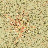 Abstract bloemen naadloos gestippeld patroon stock illustratie