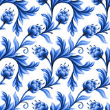 Abstract bloemen naadloos patroon, achtergrond met folklorebloemen vector illustratie