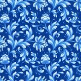 Abstract bloemen naadloos patroon, achtergrond met volksbloemen Stock Afbeelding