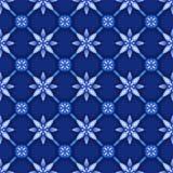 Abstract bloemen naadloos patroon, blauw wit gzhellatwerk, rooster Royalty-vrije Stock Fotografie