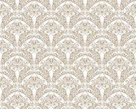 Abstract bloemen naadloos patroon Brokaattextuur vector illustratie