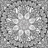 Abstract bloemen naadloos patroon Geometrische ornamenttextuur Royalty-vrije Stock Afbeeldingen