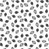 Abstract bloemen naadloos patroon met bladeren In hand getrokken texturen Stock Fotografie