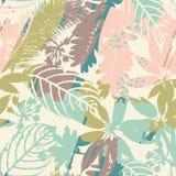 Abstract bloemen naadloos patroon met in hand getrokken texturen Stock Afbeeldingen