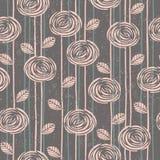 Abstract bloemen naadloos patroon met rozen Stock Foto